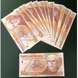 Billete Antiguo Banco De Mexico De 50 Pesos Morelos De Papel
