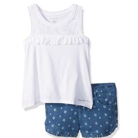 Conjunto 2 Piezas Calvin Klein Jeans Short Blusa Niña