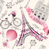 Papel De Parede Vinilico Rosa Paris Alto Adesivo Lavavel