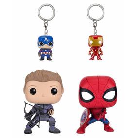 Captain America Civil War, Hawkeye Y Spiderman Funko Pop