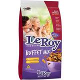 Ração Premium Gatos Leroy Buffet Mix 7 Kg 31% Proteína
