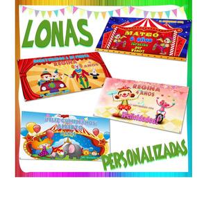 Lona Personalizada Tema Circo Payasos Para Fiesta Infantil