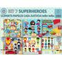 1 Kit Imprimible X 6 Sets Superheroes Hombre Araña Flash 6x1