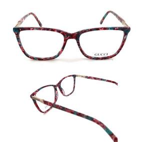 b3d552644e90f Armação Óculos Grau Acetato Feminino Florido Gg5522
