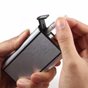 Porta Cigarro Cigarreira Esqueiro Isqueiro Case Metal Caixin