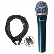 Microfono Parquer Sn58 Profesional Con Cable Canon + Funda