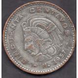Moneda Antigua Cincuenta Centavos Cobre Cuauhtemoc 1957 C5