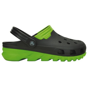 Zapato Crocs Dama Duet Max Clog Negro/verde