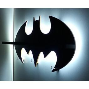 Prateleira Batman Com Iluminação E Cabideiro