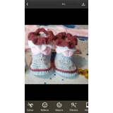 Botitas Para Bebé Tejidas Al Crochet