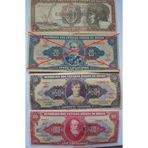 Cédulas Cruzeiros Antigas Notas 23, 112, 115, 117 (unidade)