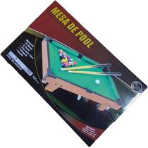 Mesa De Pool De Madera Para Niños Jeidy Toys Nueva