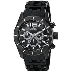 New Mens Invicta 11249 Sea Spider Chronograph Black Bracelet