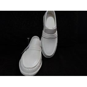 Sapato Mocassim Branco Pvc Medico Enfermagem Impermeavel