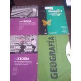 Libros Secundario Historia, Biología 3 Y Geografía