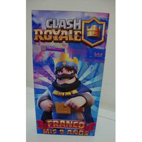 Bolsitas Personalizadas Clash Royale Cumpleaños Rey Azul