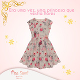 Vestido Infantil Floral - Miss Sweet