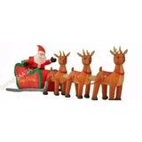 Inflable Navideño Santa Claus Trineo 4mts