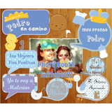 Photo Booth Baby Shower Nene Imprimible Props Objetos Frases