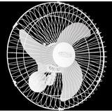 Ventilador Oscilante De Parede 60cm Turbo Rolamento- Branco