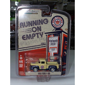 1:64 Ford F-100 1956 Red Crown Greenlight Run On Empty