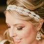 Tiara Coroa Faixa Cabelo Noiva Casamento Strass E Miçanga