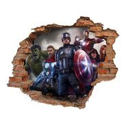 Vinilo Pared Rota Avengers 3d 1,20x0,95
