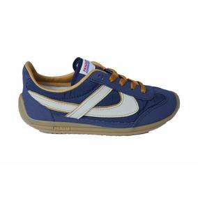Tenis Panam 010051 0097 Azul Beige Jogger Asics Vintage