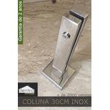 Coluna (torre)inox Retangular Guarda Corpo Corrimão De Vidro