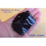 Mineral Piedra Obsidiana En Bruto - Fracción