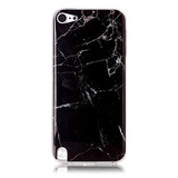 Pod 5 Case,ipod Touch 6 Case,new Arrival Black Marble Textu