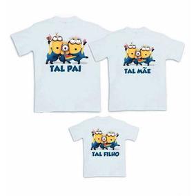 Tal Pai Tal Mãe Tal Filha(o) Camisa Aniversário Personaizada