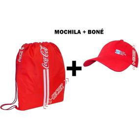 Mochila Coca Cola Kit + Boné De Esporte Academia Passeio