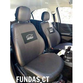 Fundas Asiento Cuero Ecologico Logo Bordado Chevrolet Prisma