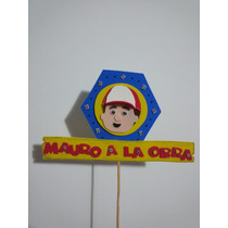 Carteles Para Tortas Personalizados Manny A La Obra, Peppa