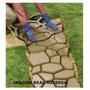 Forma Piso Calçada Jardim - Uso Concreto - Alumínio 50x50x4