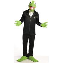 Muppets Kermit La Rana Traje Y Cara, Verde, Estándar