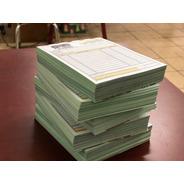 300 Notas De Venta Con Copia Verde, Tamaño 1/4 De Carta