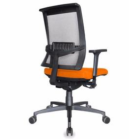 Cadeira Diretor Web Espaldar Em Tela, Base Rhodes Com Braços