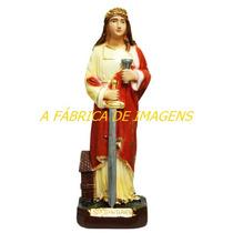 Escultura Santa Barbara 20cm Estatua São Jose Imagem 20cm