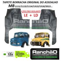 Tapete Borracha Original Caminhão Mb 1113 2013 C/feltro Par