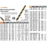 Mechas De Alta Velocidad Turbo Steel Truper Bav-1/16