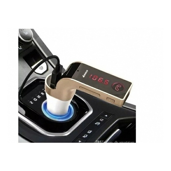 Reproductor Modulador Bluetooth  Fm Mano Libr Auto Cargador