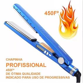 Chapinha Chapa De Titanium Azul Profissional Progressiva