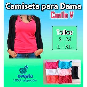 Camiseta Franelilla Cuello V Para Dama Ovejita Nuevo Modelo