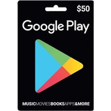 Tarjeta Google Play Card Usd50 Play Store Codigo Digital