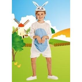 Disfraz Conejo Panza Celeste Talle:3 Disfraces Candela 43845