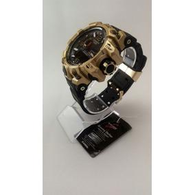 Relógio Masculino Casio G-shock Digital E Analógico Dourado