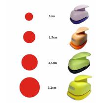 Kit Furadores Scrapbook Circulo Liso 1cm 1,5cm 2,5cm 3,2cm