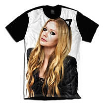 Camiseta Personalizada Avril Lavigne Tiara Gatinho Tumblr